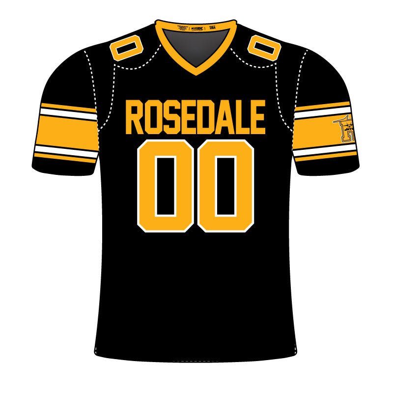 ROSEDALE JETS THROWBACK FAN JERSEY BLK