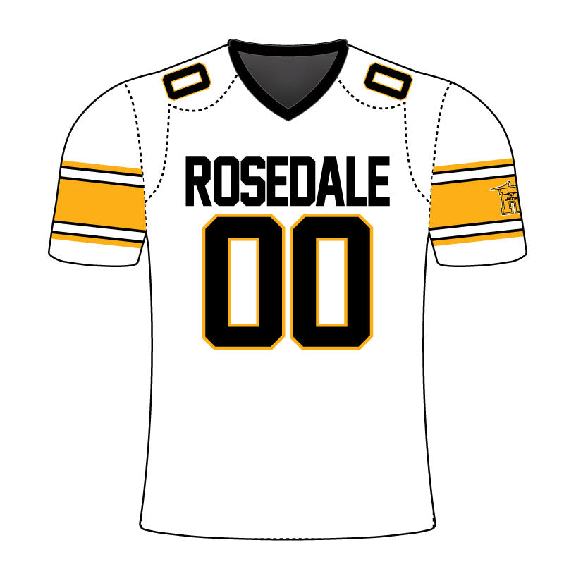 ROSEDALE JETS THROWBACK FAN JERSEY WHT