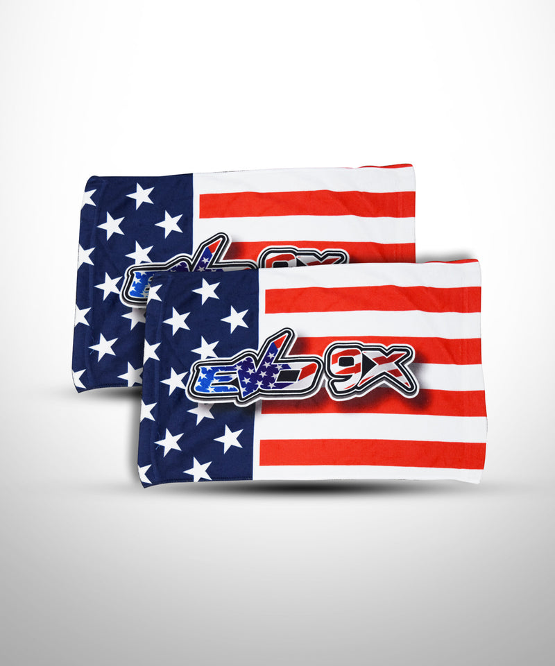 Evo9x AMERICAN FLAG Design Full Dye Sublimated Towel- 1 Piece