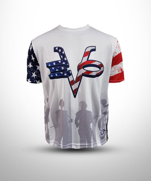 Full dye Sublimated short sleeve Jersey PAT1-White