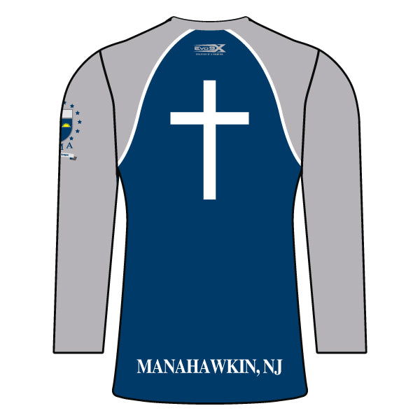 ST. MARY ACADEMY WOMENS LONG SLEEVE SHIRT (NAVY)