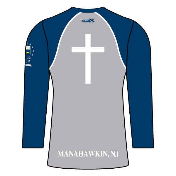 ST. MARY ACADEMY WOMENS LONG SLEEVE SHIRT (GREY)