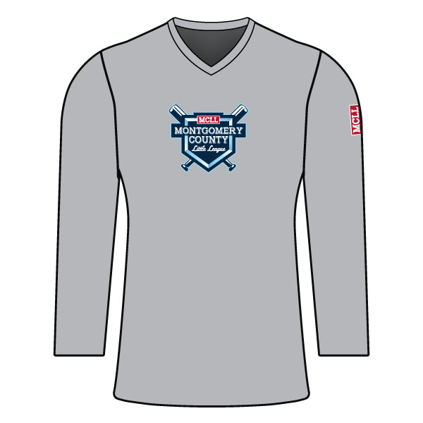 Evo9x MONTGOMERY LITTLE LEAGUE Full Dye Sublimated Women's Long Sleeve Shirt