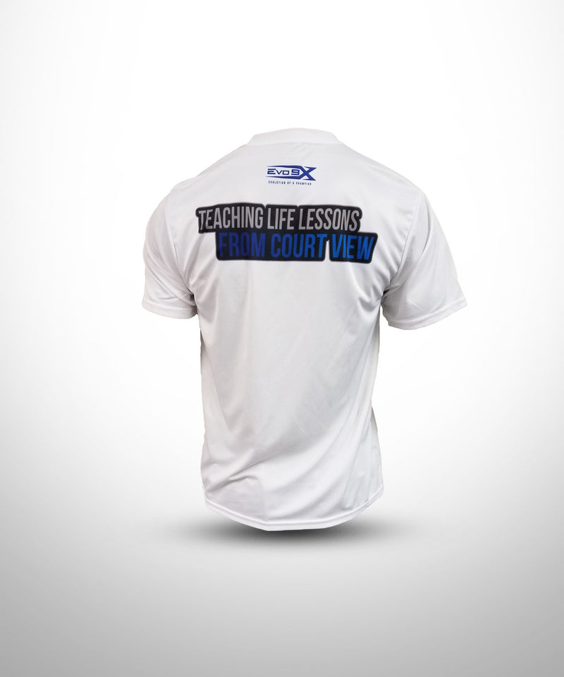 Semi Sublimated Short Sleeve Tee WHT YW BALLERS
