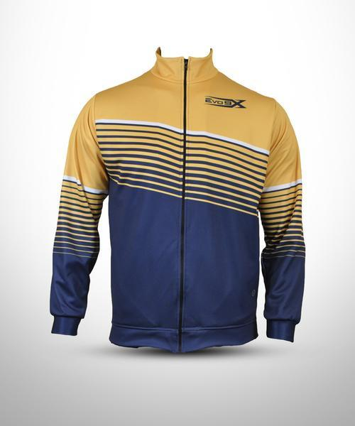 Evo9x Full Dye Sublimated Full Zipper Jacket Yellow/Navy