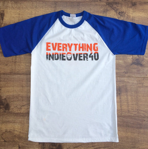 Baseball style T-Shirt - Blue (plus FREE EIO40 badge & plectrum)