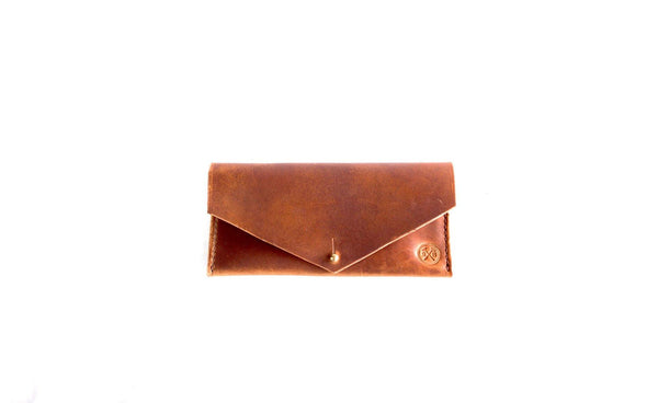Natural Dublin Light Brown Horween Leather Women's Clutch Wallet
