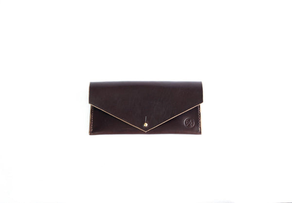 Seahawk Dark Brown Horween Leather Women's Clutch Wallet