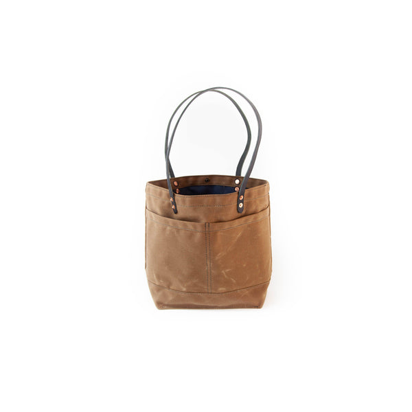 The New Craft Tote in Waxed Canvas and Leather - Field Tan (Pre-order)