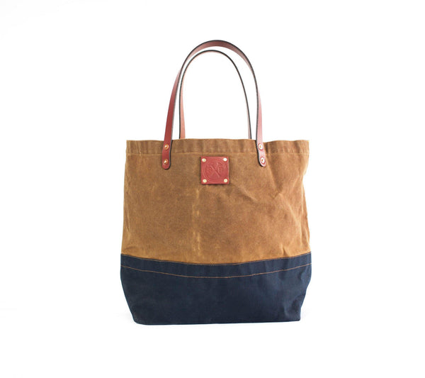 daa65ee77 The Craft Waxed Canvas tote Bag With Leather Straps – Sturdy Brothers