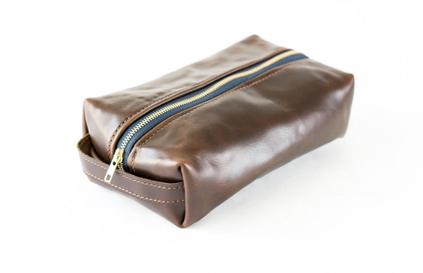 Horween Leather Dopp Kit in Seahawk (Brown) -  - 1