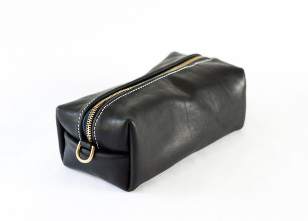 Horween Leather Dopp Kit in Black Dublin -  - 1