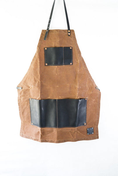 The Charles Master Waxed Canvas and Leather Apron