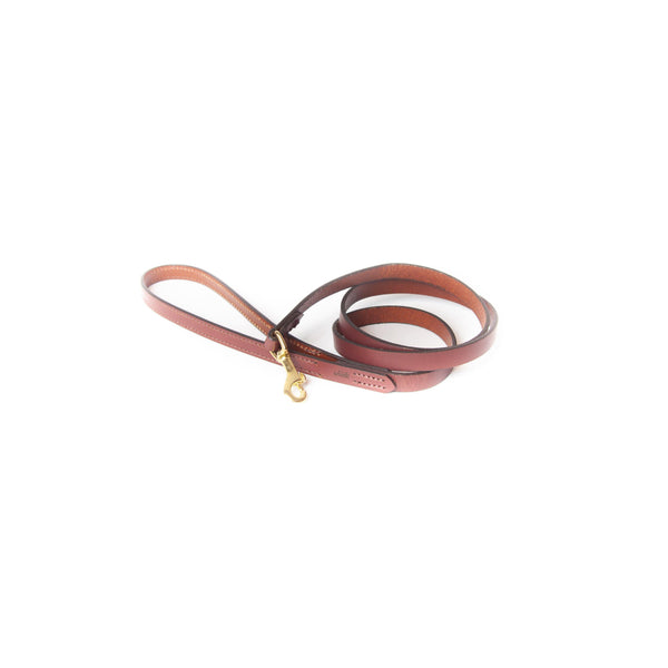 Leather Dog Leash Finished Chestnut