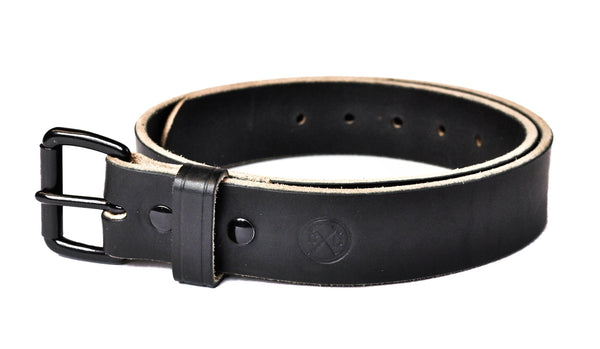 Full Grain Black Men's Leather Belt