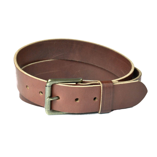Full Grain Chestnut Men's Leather Belt