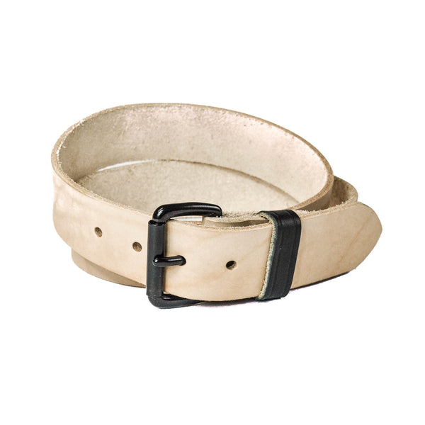 Full Grain Natural Veg Tanned Men's Leather Belt