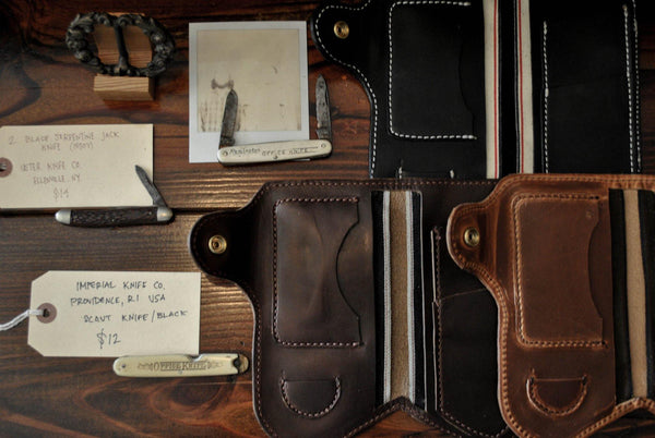 Jean Snap Horween Leather Wallet Black Dublin -  - 3