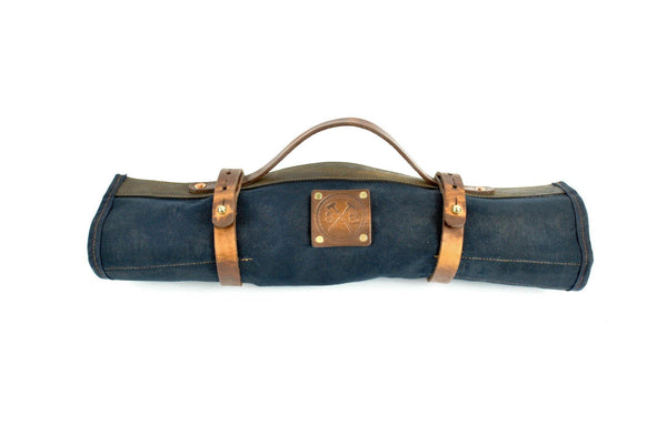 Waxed Canvas and Leather Tool Roll Holder Kit Box