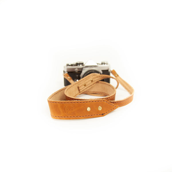 The Ansel Camera Strap in Natural Dublin