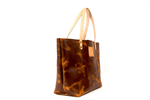 The Paxton Small Horween Natural Dublin Leather Tote