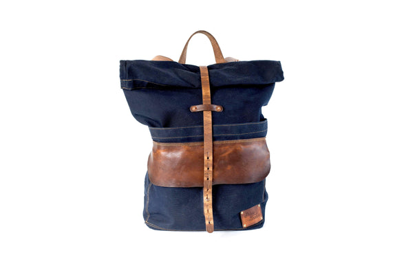 897a509c0 Waxed Canvas Backpack-The Harland Rolltop Backpack – Sturdy Brothers