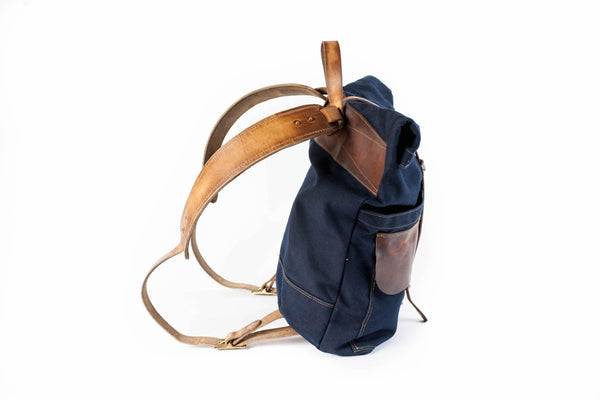 Harland Rolltop Backpack (Limited Navy)