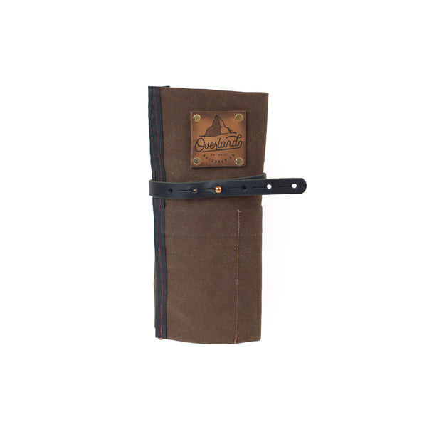 The Orville Overlander Waxed Canvas and Leather Car tool roll Vehicle Tool Roll