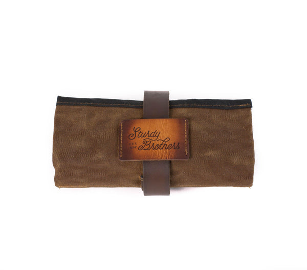 waxed canvas leather pipe roll tobacco