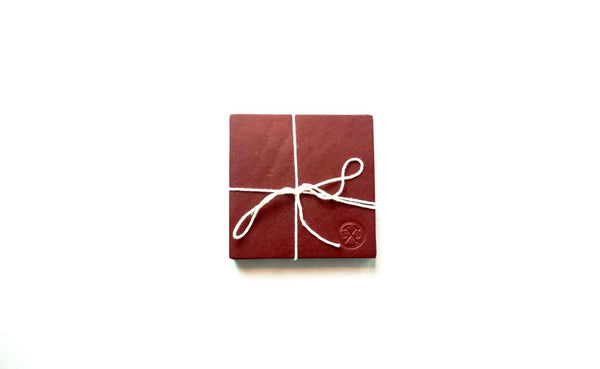 SB Leather Coasters Chestnut -  - 1