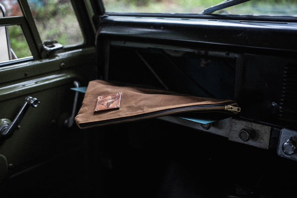 Overland Accessories Glove Box Drop Bag Waxed Canvas Leather