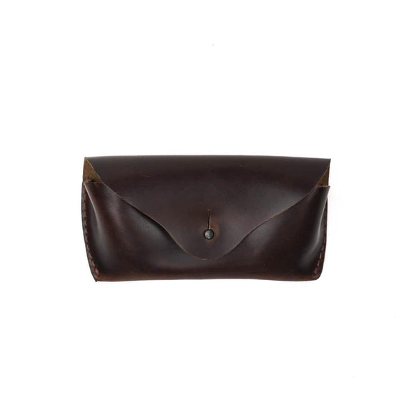 Brown leather Horween sunglasses case seahawk chromexcel