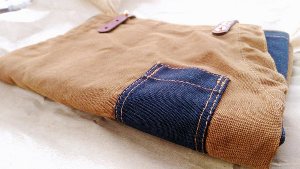Waxed Canvas and Leather Charles Apron by Sturdy Brothers