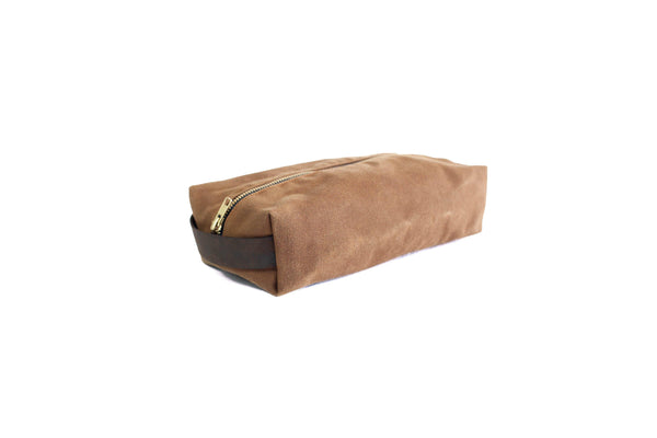 a0a97daf4f90 Dopp Kit - Waxed Canvas Dopp Kit with Leather Accents – Sturdy Brothers