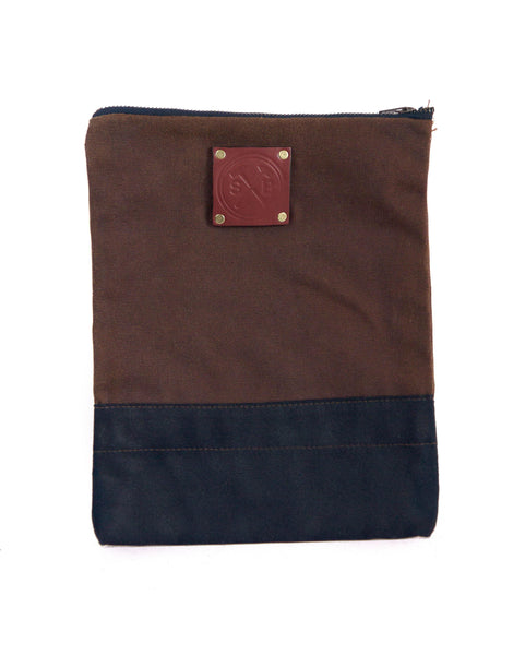 Waxed canvas ipad carry holder