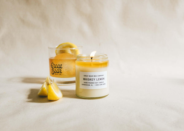 Great Bear Whiskey Lemon Candle