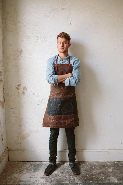 The Charles Waxed Canvas Apron -  - 1