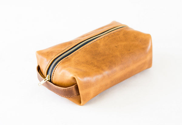 Horween Leather Dopp Kit in Natural Dublin -  - 1