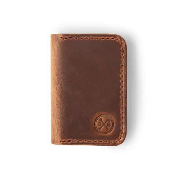 Horween Natural Dublin Double Pocket Wallet
