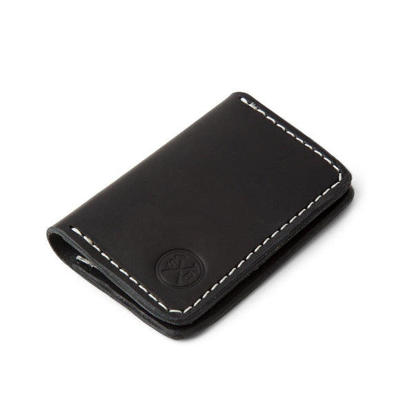 Black Horween Double Pocket Wallet