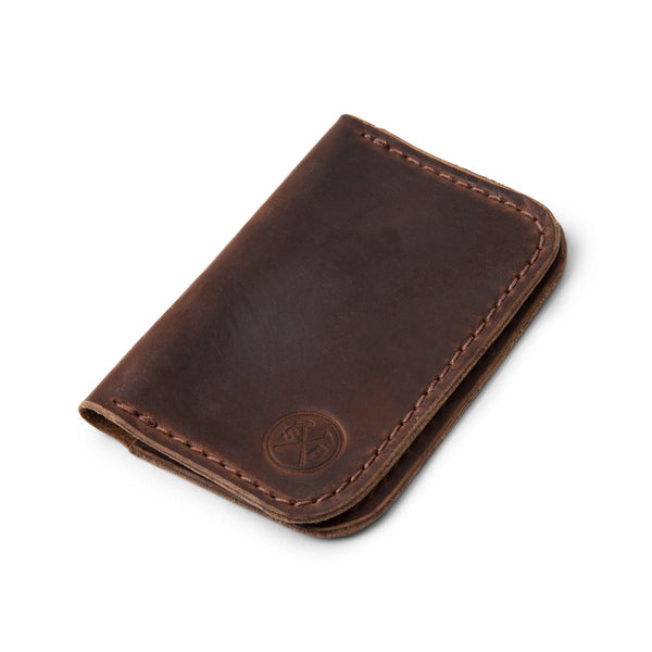 Dark Brown Seahawk Horween Double Pocket Wallet