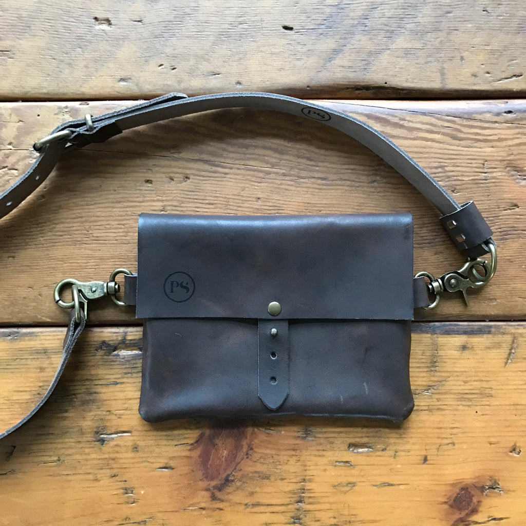Italian Leather Waist Festival Bag. Perfect for carrying your phone, cards, money and lipstick! What more do you need? And best of all, you will be hands free!
