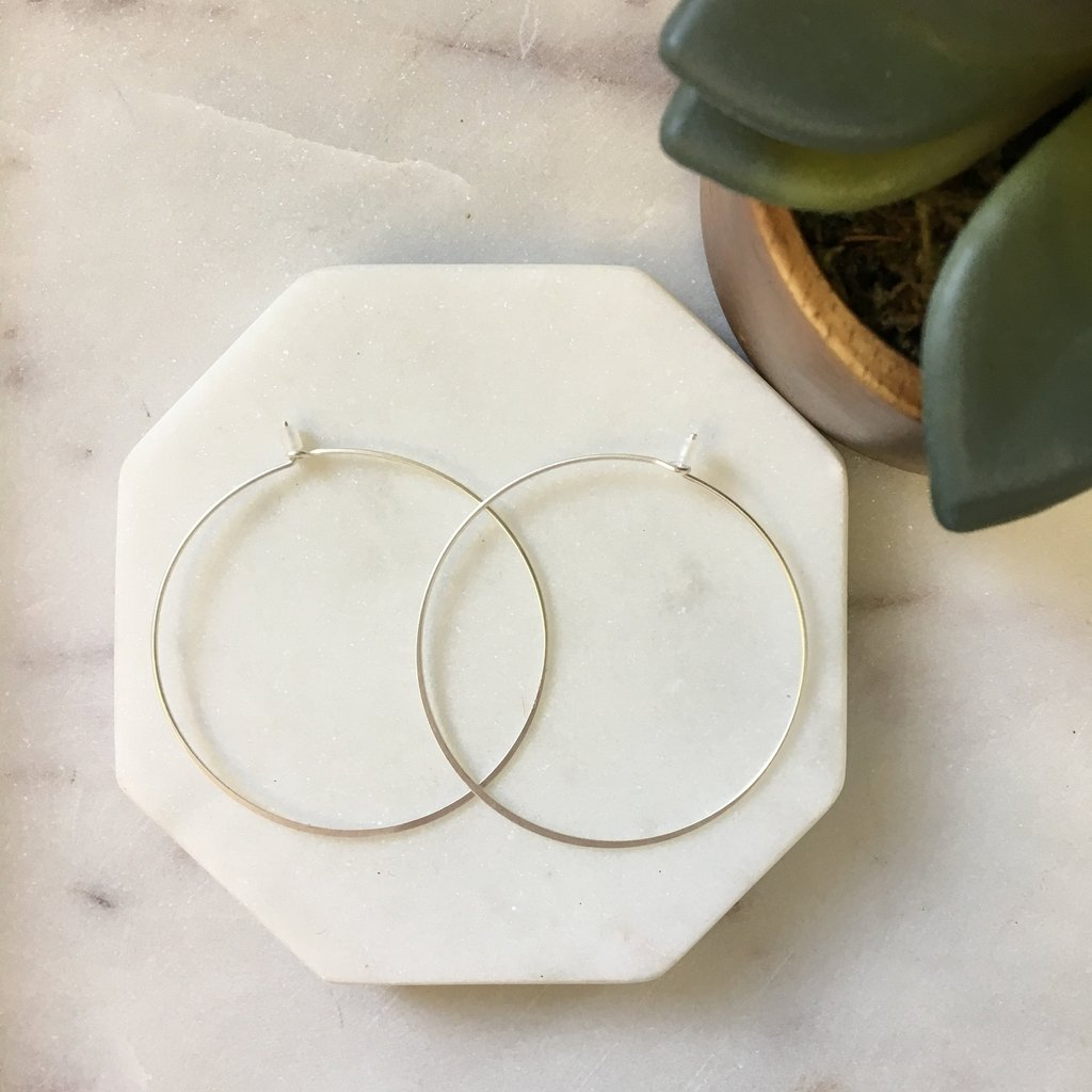 Wire 2 Inch Hoop Earring - pretty-simple-2