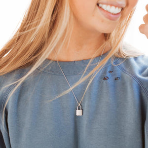 London Lock Necklace-Wholesale-Silver-Pretty-Simple