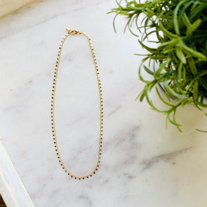 Gold Disc Choker-Wholesale-Pretty-Simple