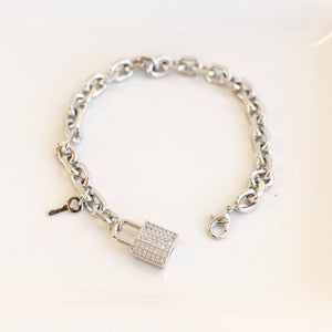 London Lock Bracelet-Wholesale-Silver-Pretty-Simple
