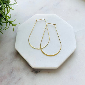 Crescent Wire Hoop Earrings-Wholesale-Pretty-Simple