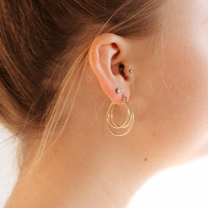 Talia Triple Hoops-Pretty Simple Wholesale