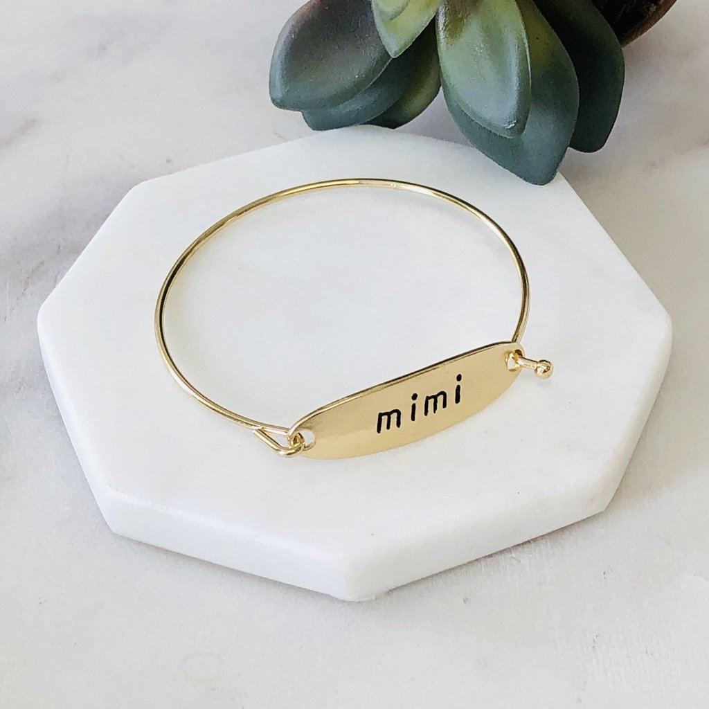 Mimi Bangle Bracelet in gold and silver