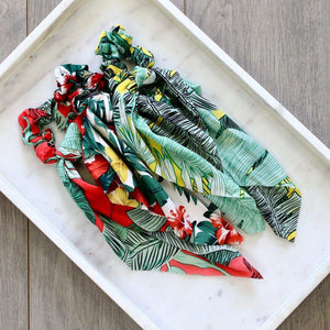 HAIR TIE SCARF SCRUNCHIE - Tropical - pretty-simple-2